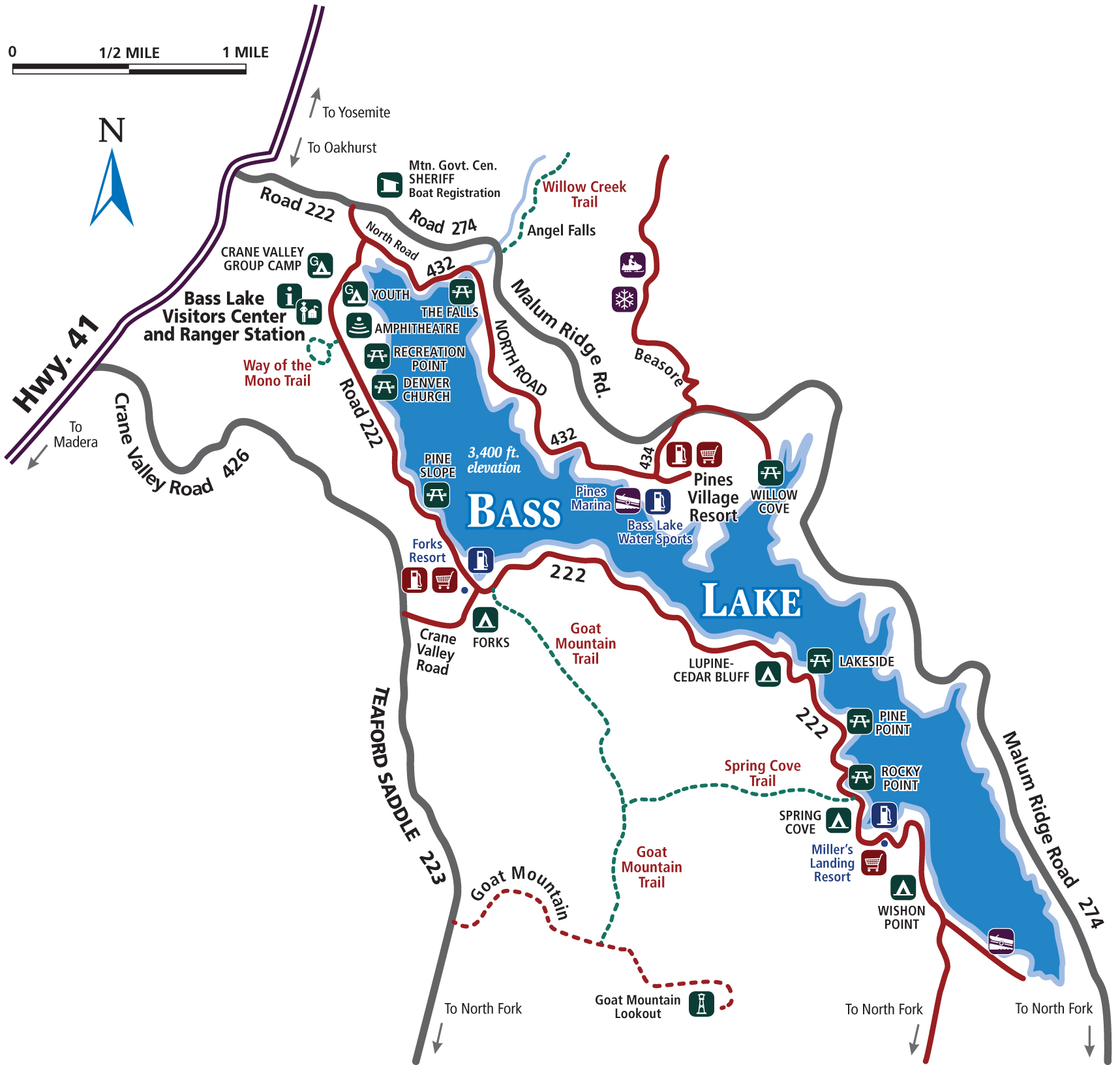 Highway 41 California Map.Madera County And Southern Yosemite Entrance Maps And Directions