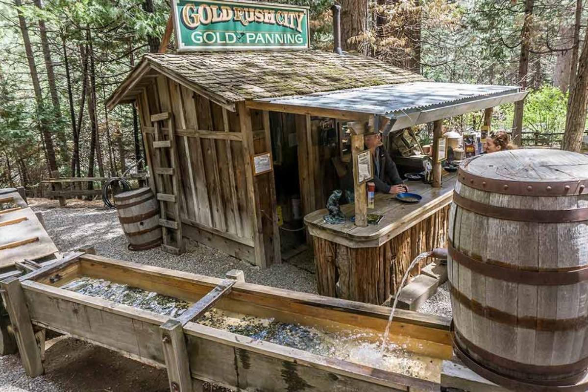 Gold Panning at the Yosemite Mountain Sugar Pine Railroad