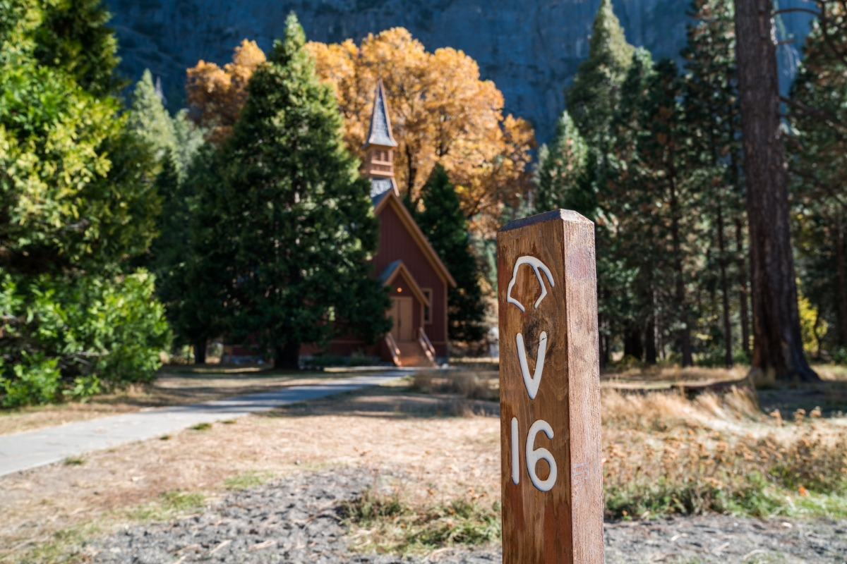 Yosemite Chapel in the Fall