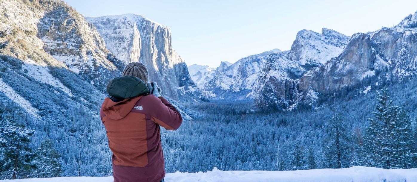 Yosemite's Tunnel View in Winter