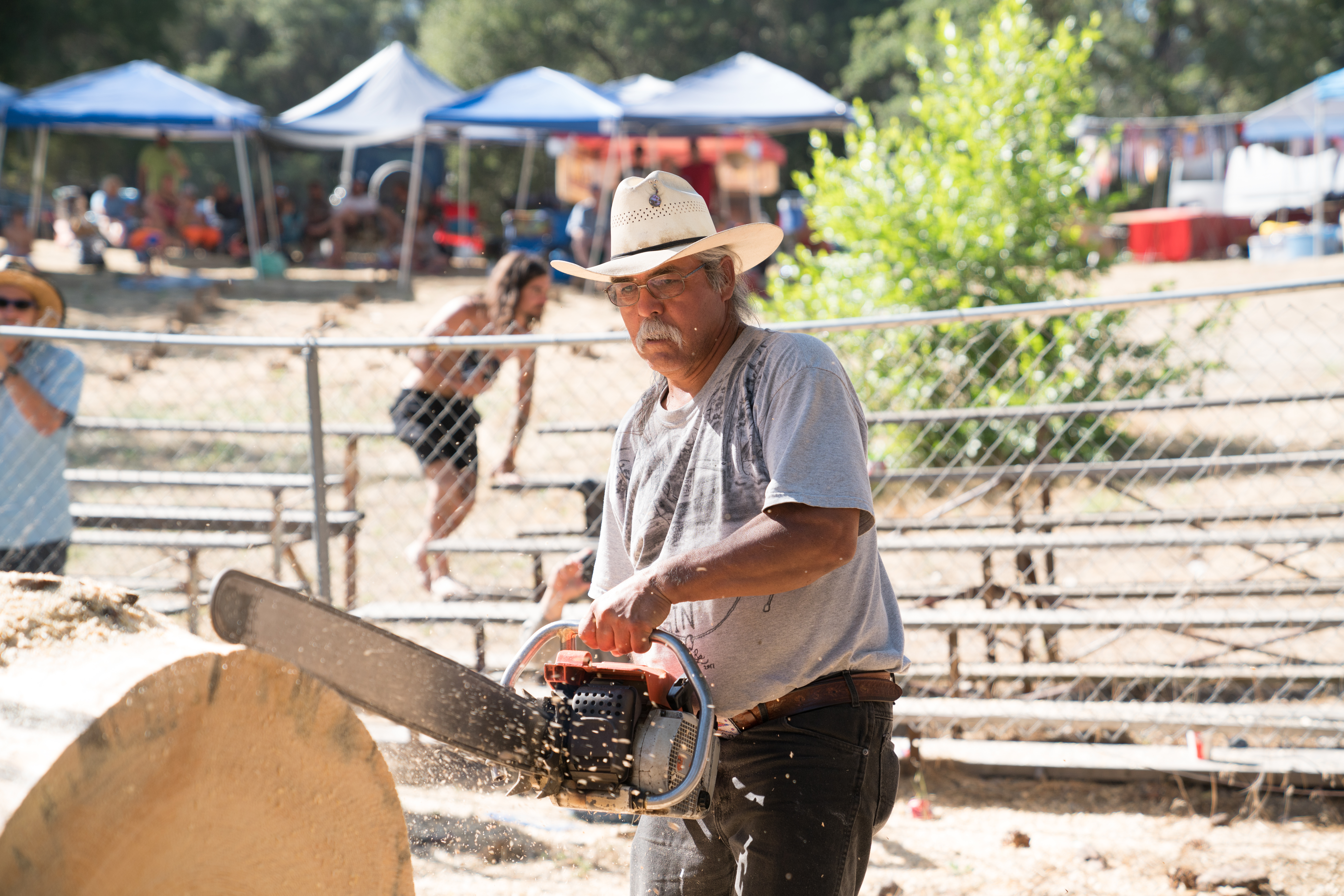 Hot Saw Competition at the Mid-Sierra Loggers Jamboree