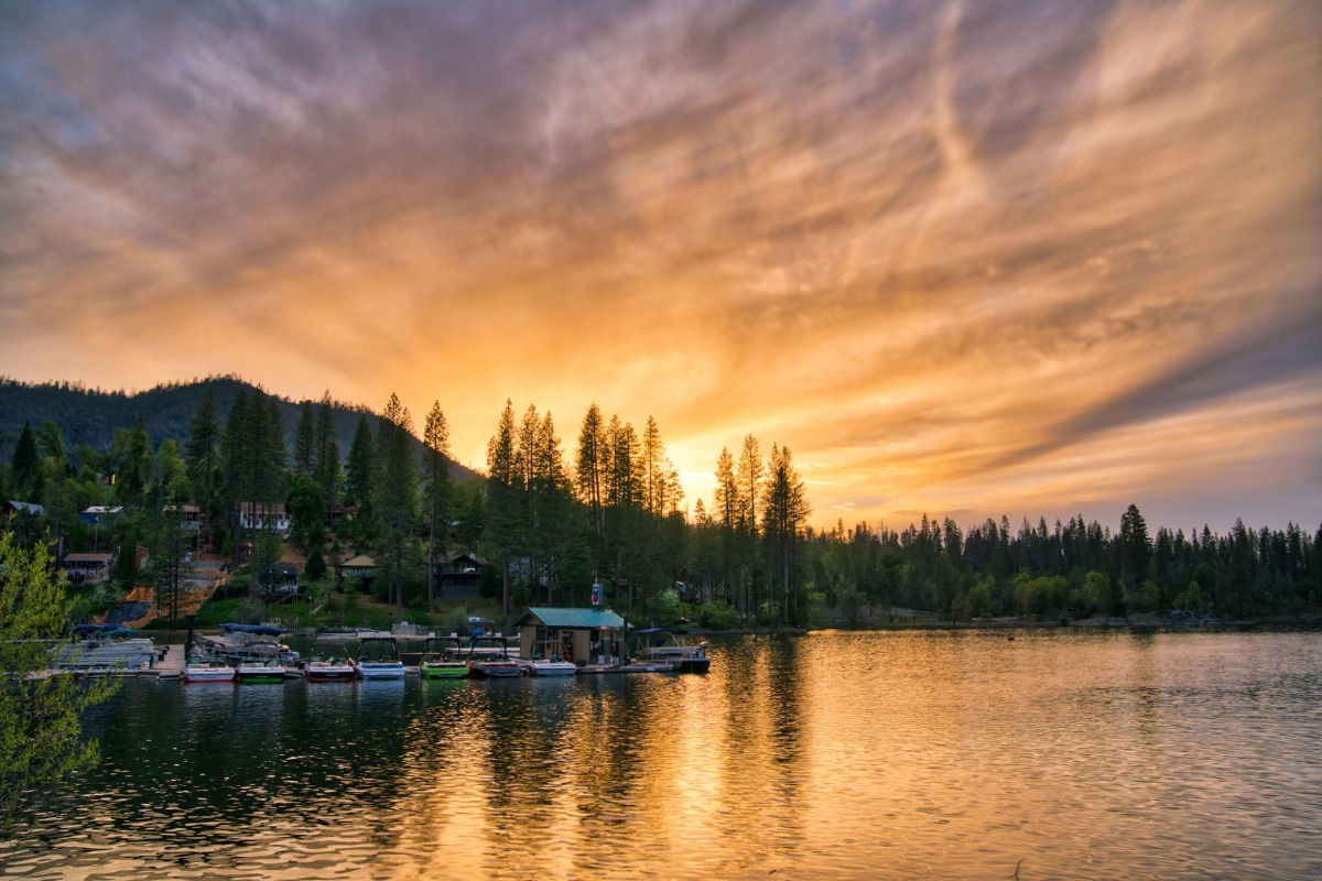 Bass Lake Fishing Derby, Sunset at Wishon Cove, Miller's Landing