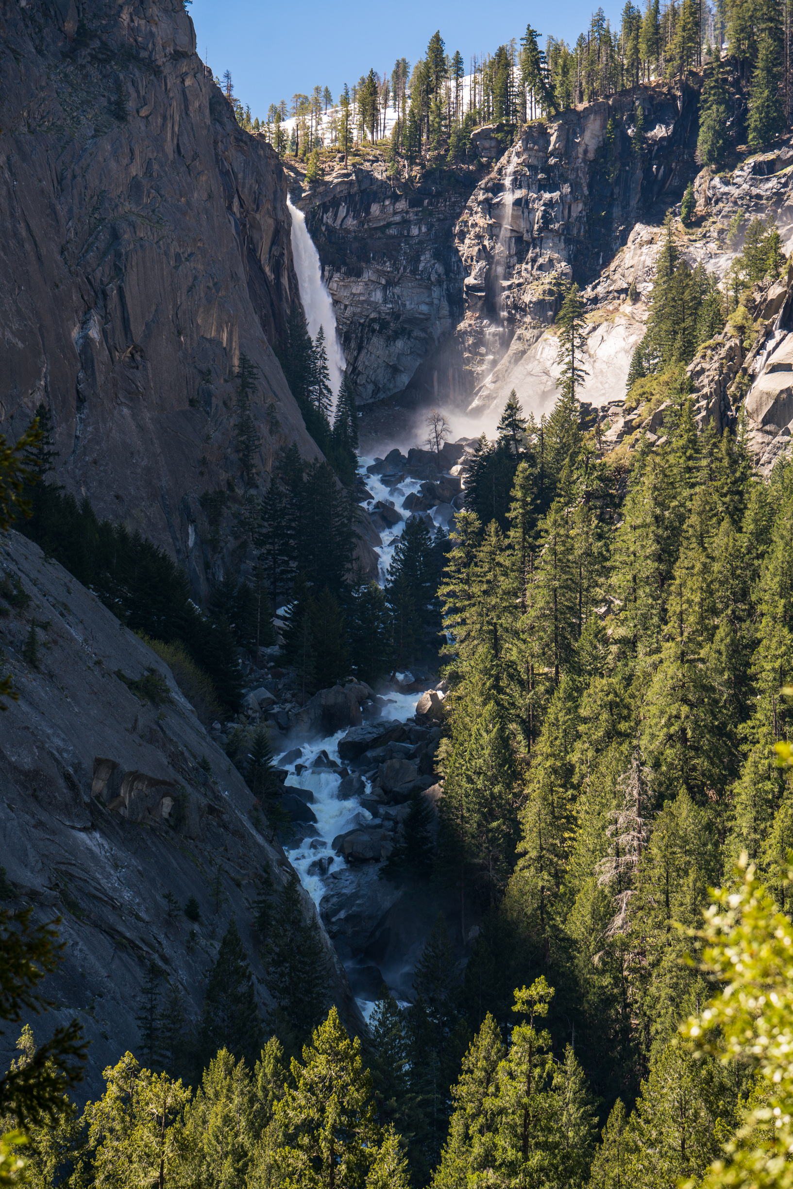 Waterfall, Yosemite, Illilouette Falls