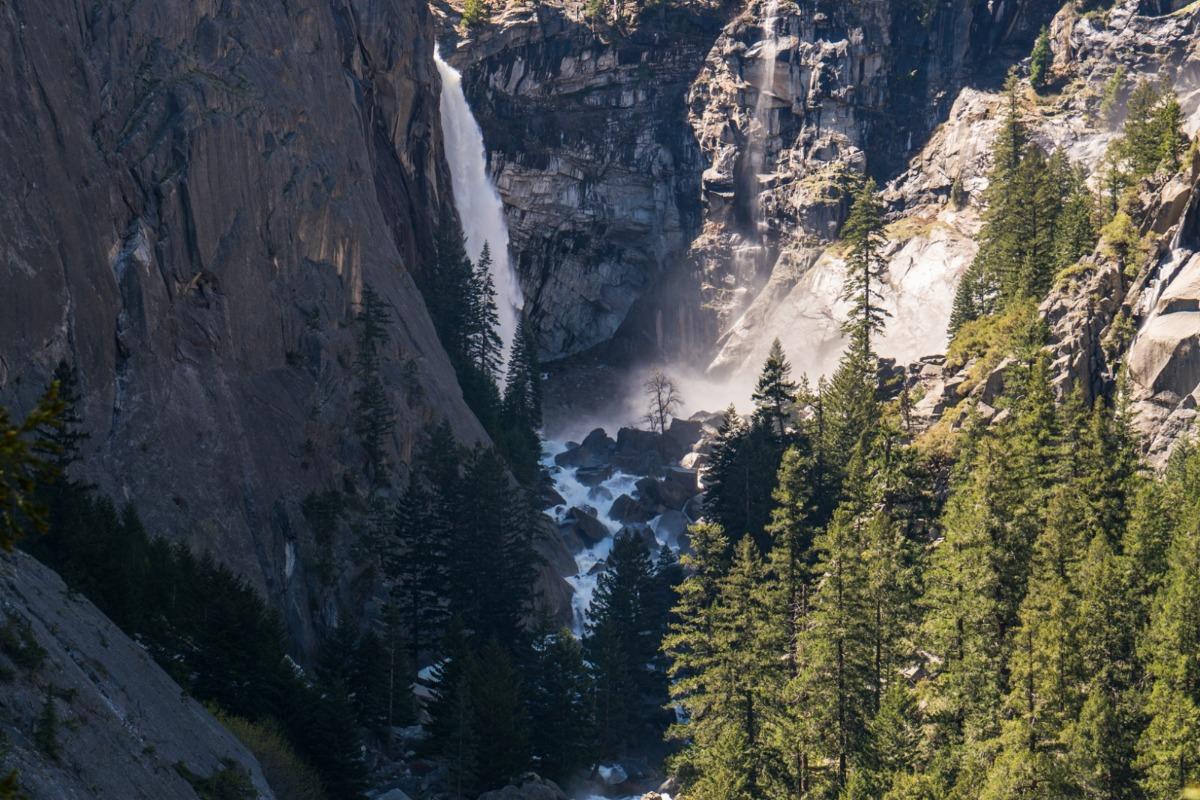 Waterfall, Yosemite, Illilouette Falls