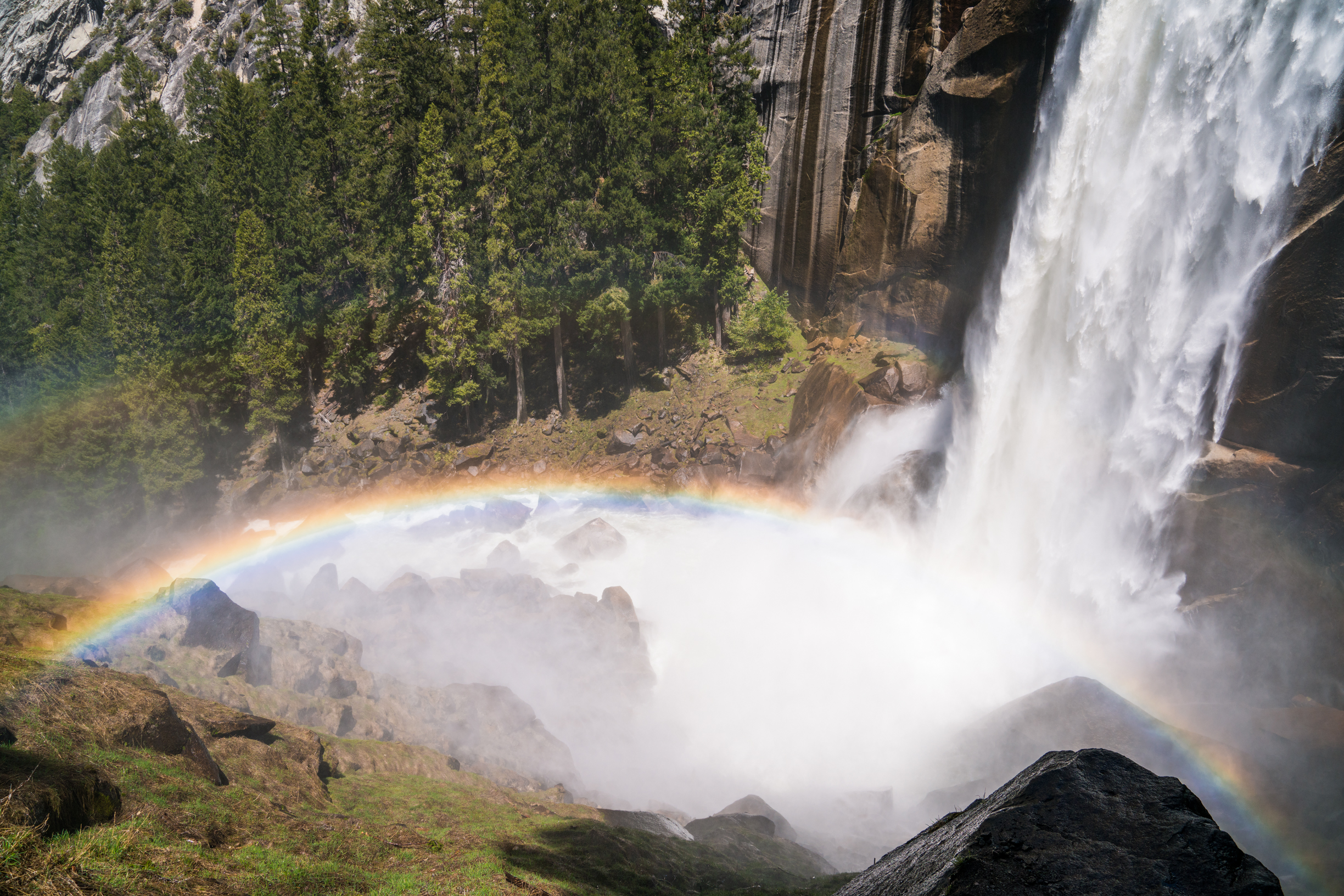 Rainbows along Yosemite's Mist Trail
