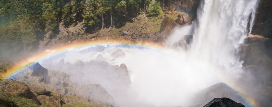 Rainbows along Yosemite's Mist Trail