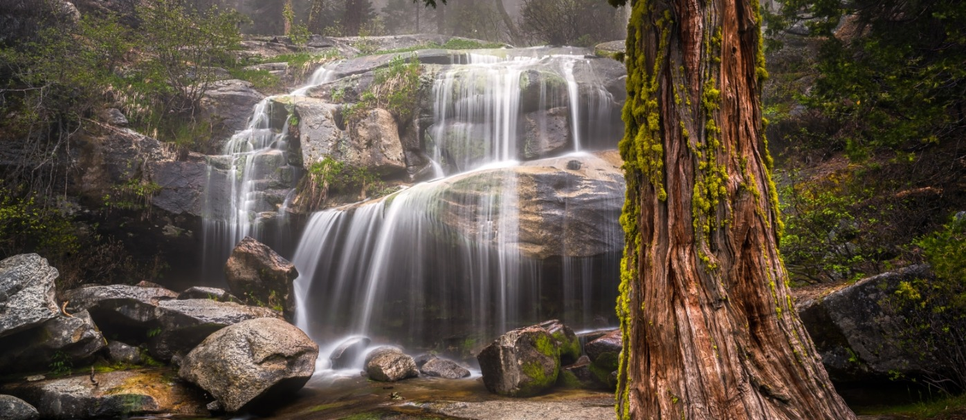 Waterfall, Sierra Nevada, Whisky Falls,