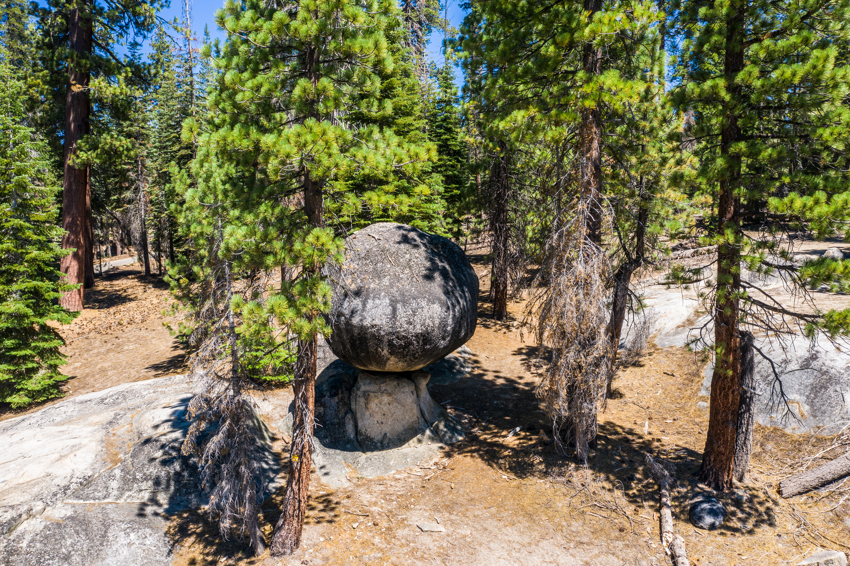 Globe Rock, Sierra Vista Scenic Byway, Geology, Sierra Nevada, Sierra National Forest, Madera County, photography, attractions, aerial