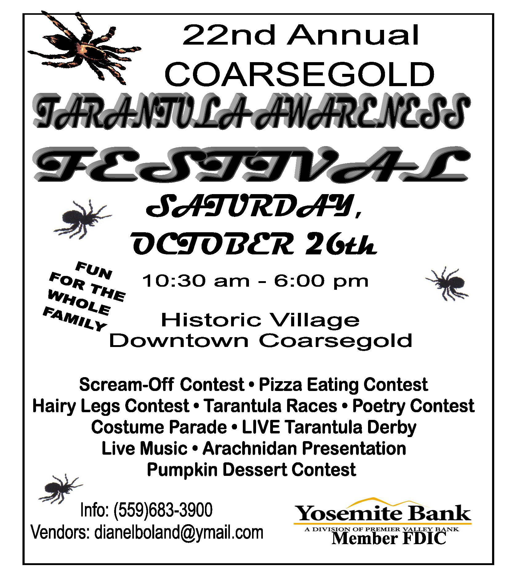 Fall, Autumn, Festival, Coarsegold, Tarantula,