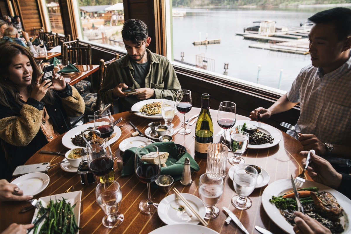 Dinner specials and views from Ducey's on the Lake