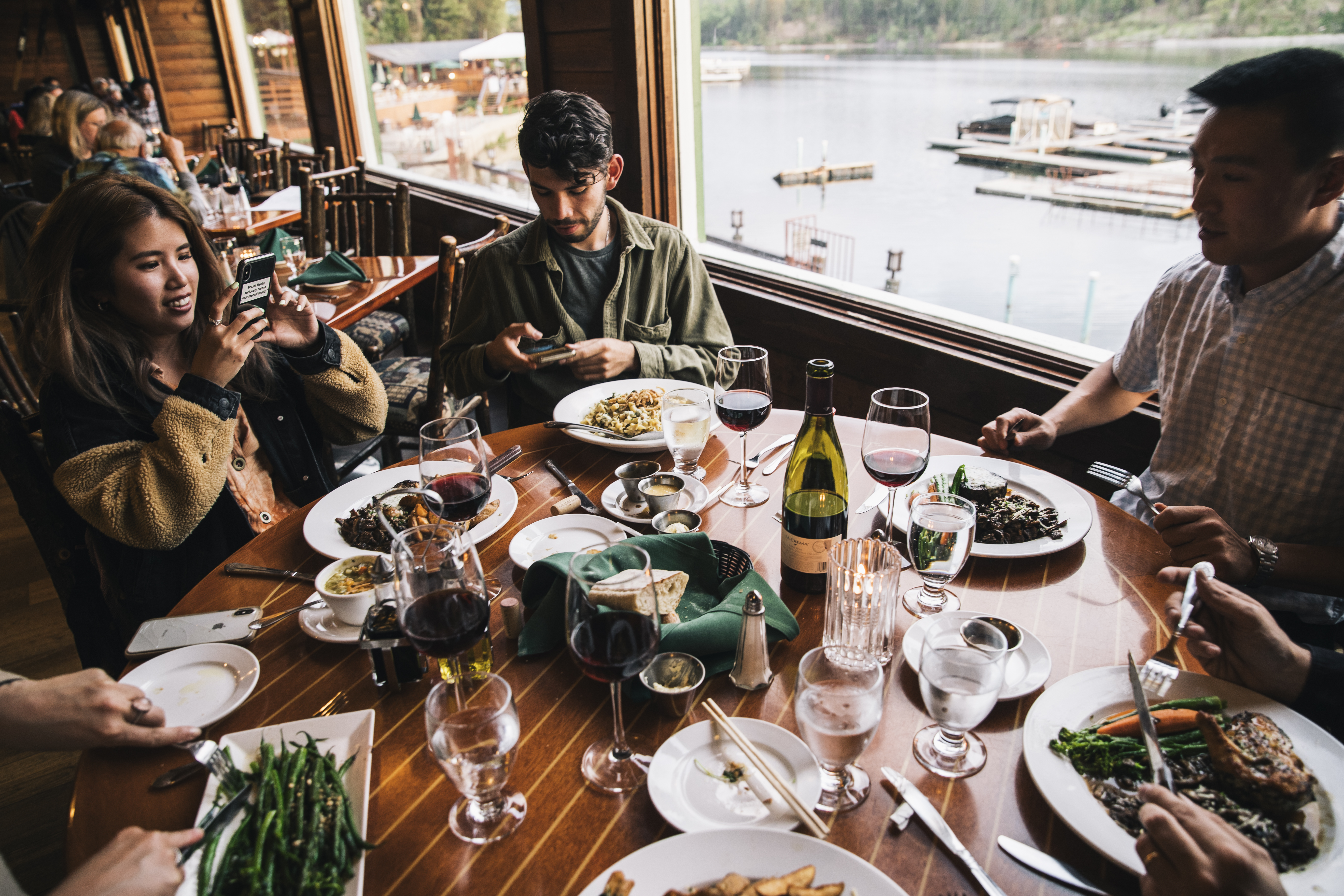 Dinner specials and views from Duceys on the Lake