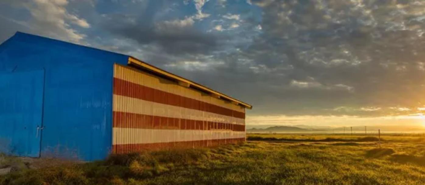 Patriotic Barn Madera County