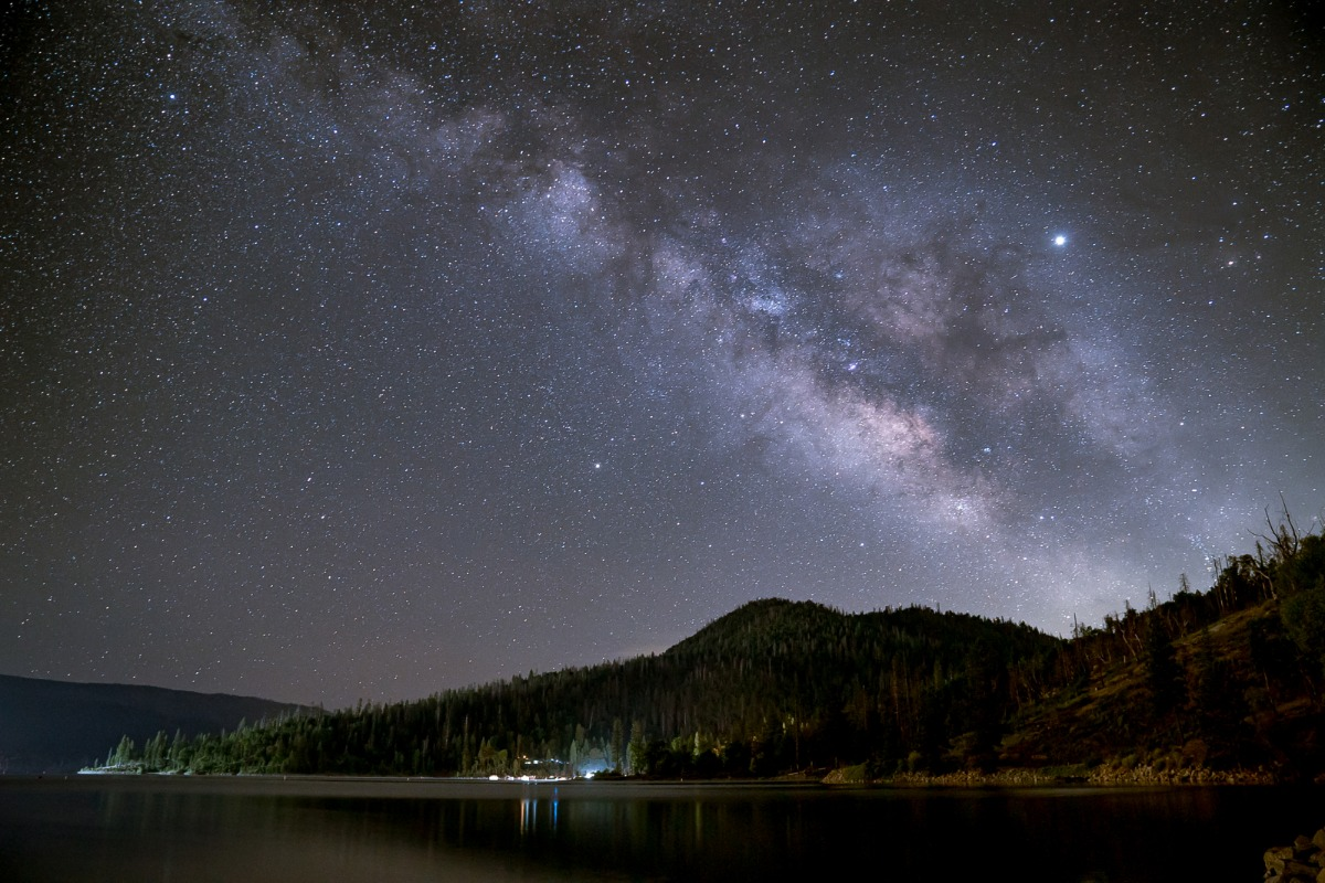 Milky Way Over Goat Mountain at Bass Lake
