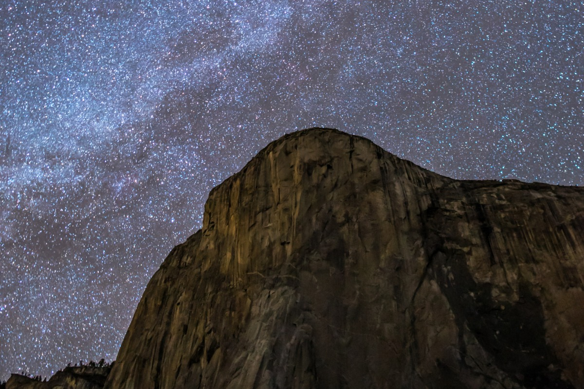 The Milky Way over Yosemite's El Capitan