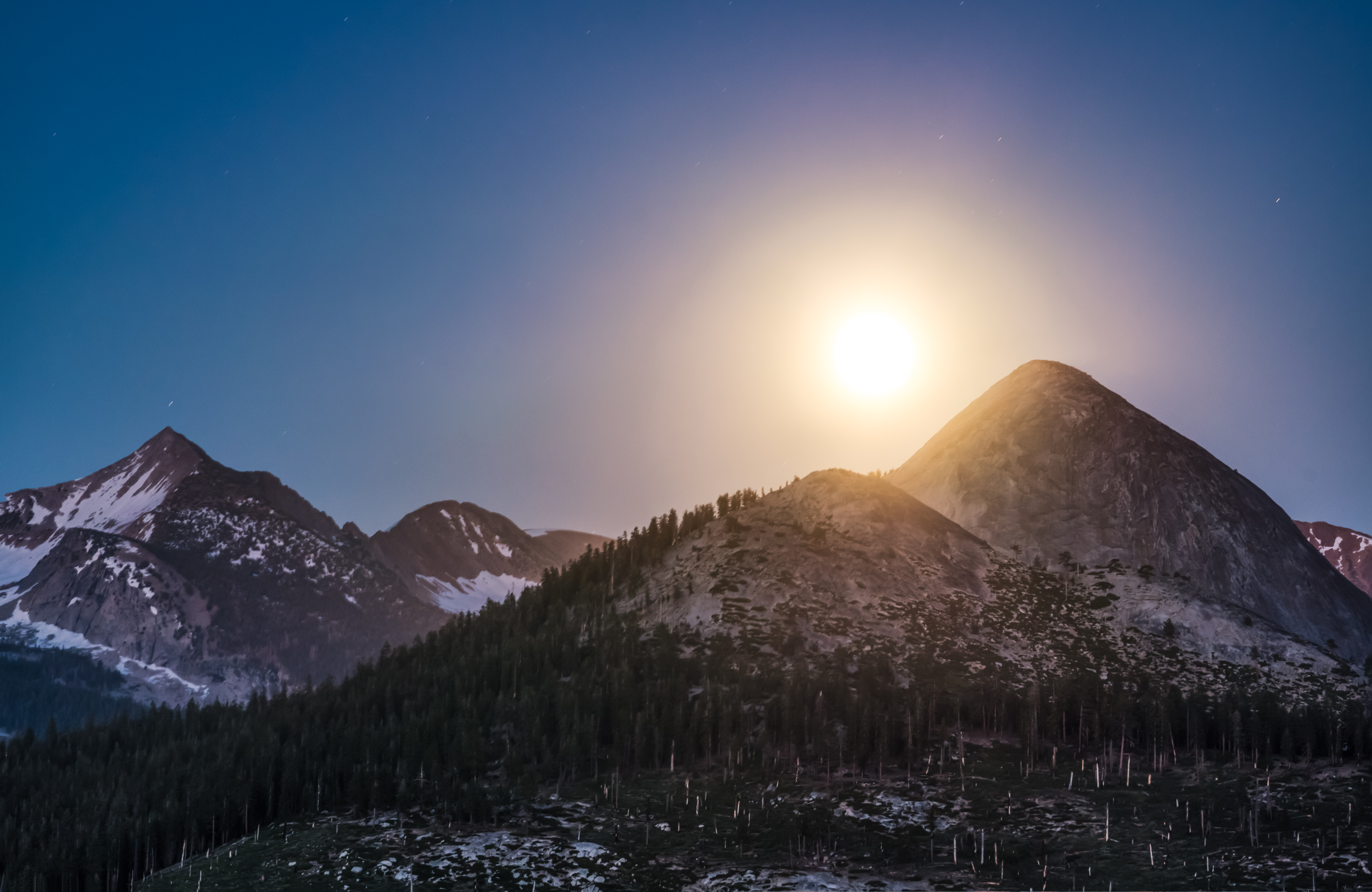 Solsitce Moonrise about Mount Starr King