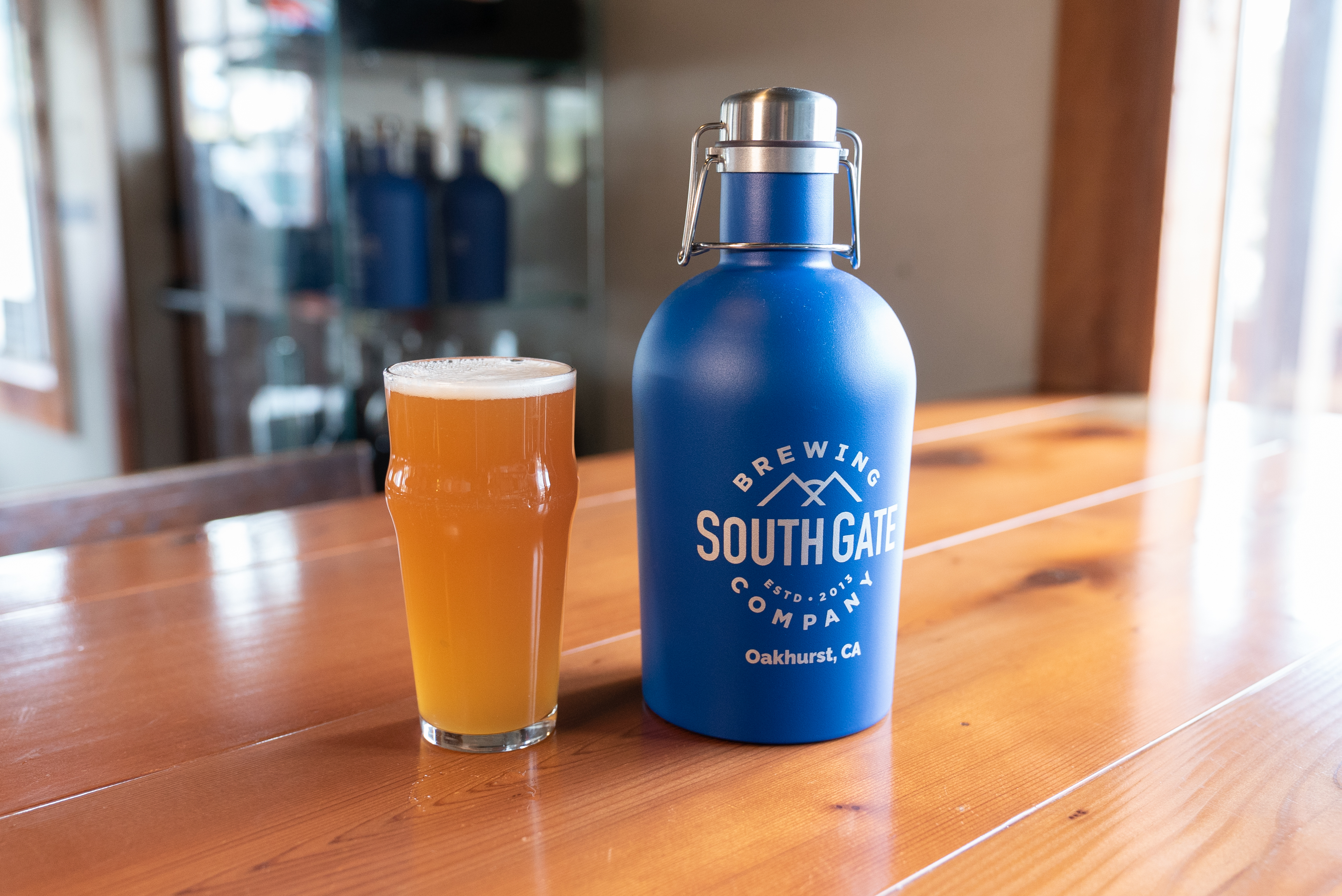 South Gate Brewing Company Hazy IPA and Growler