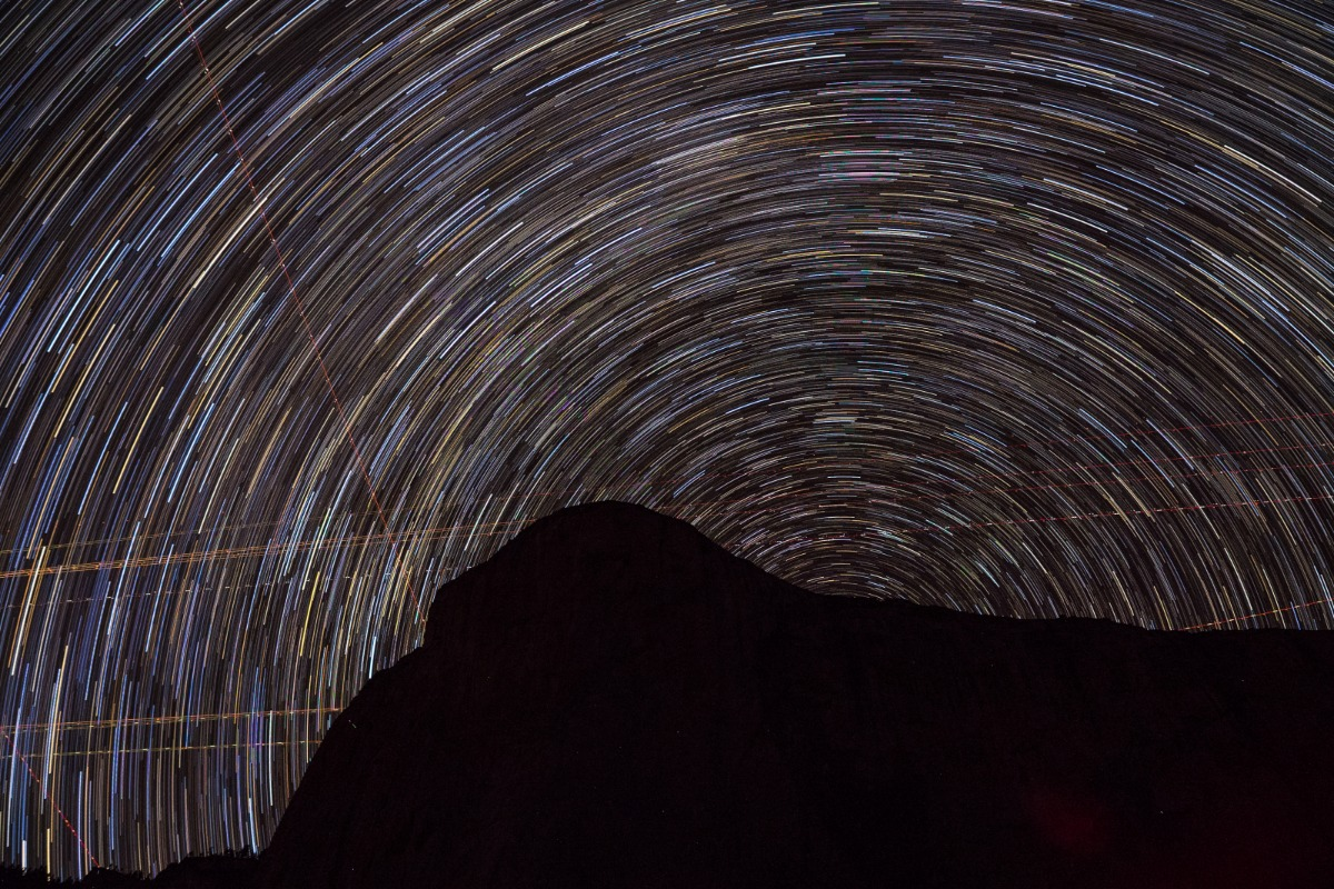 Star Trails Atop El Capitan