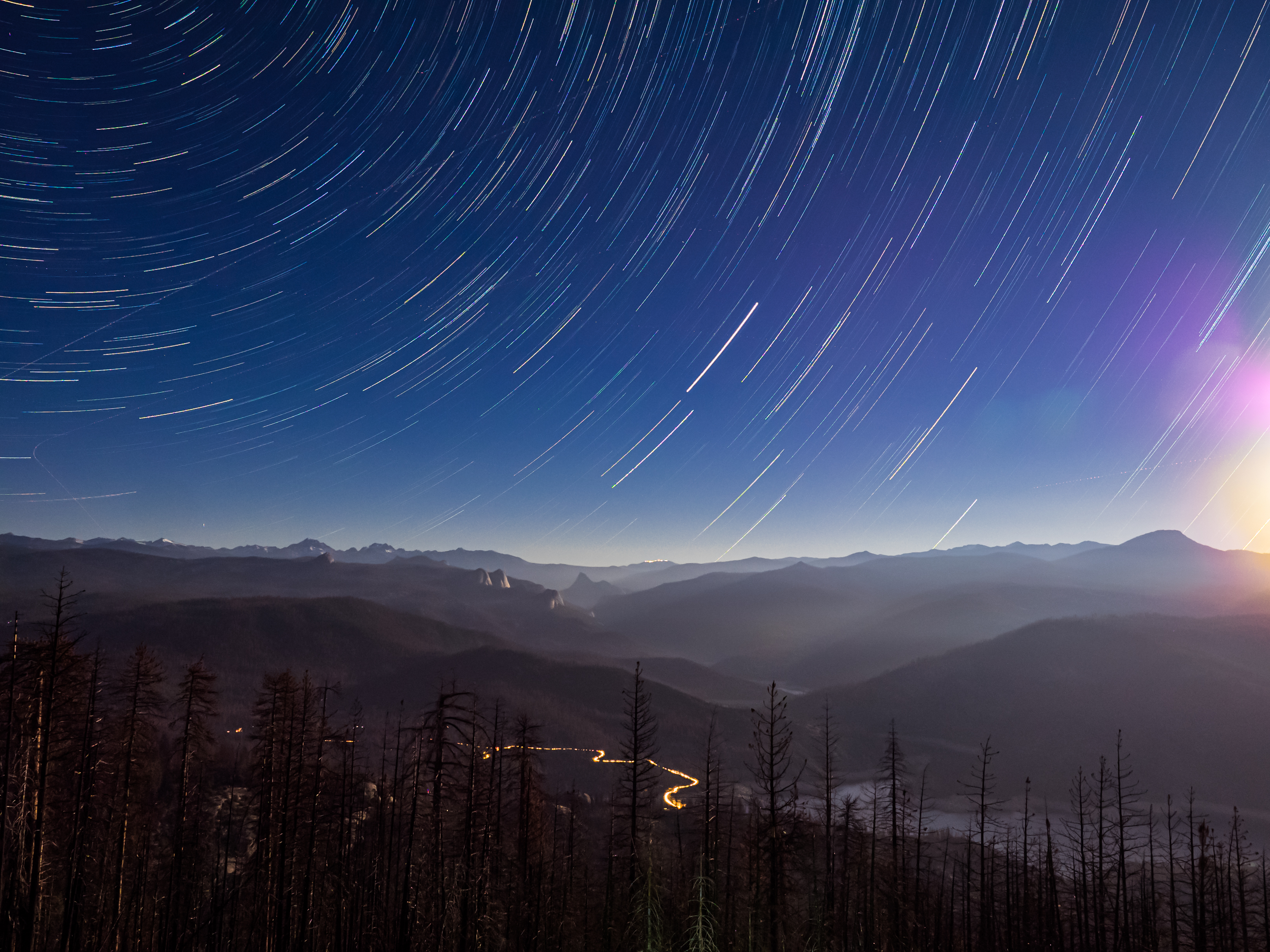 Star Trails over the Sierra Vista Scenic Byway