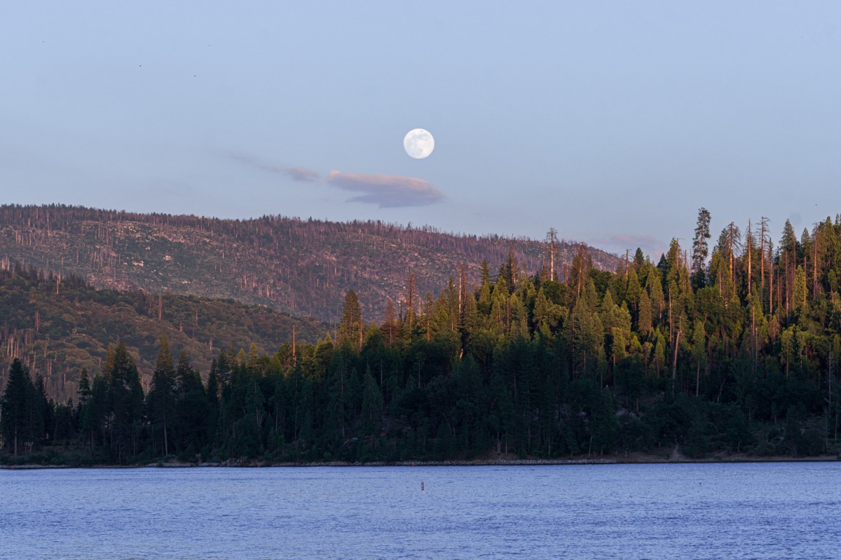 Full Moon over Bass Lake