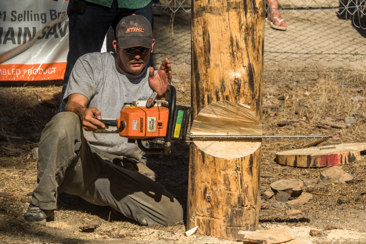 Tree Felling at the North Fork Loggers Jamboree