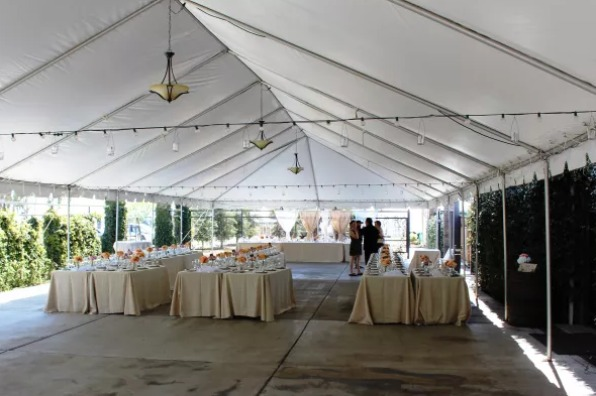 Wedding Reception setup at Birdstone Winery