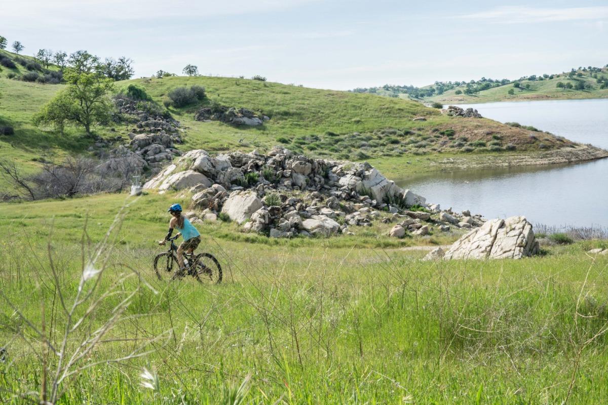 Mountain biking at Hensley Lake