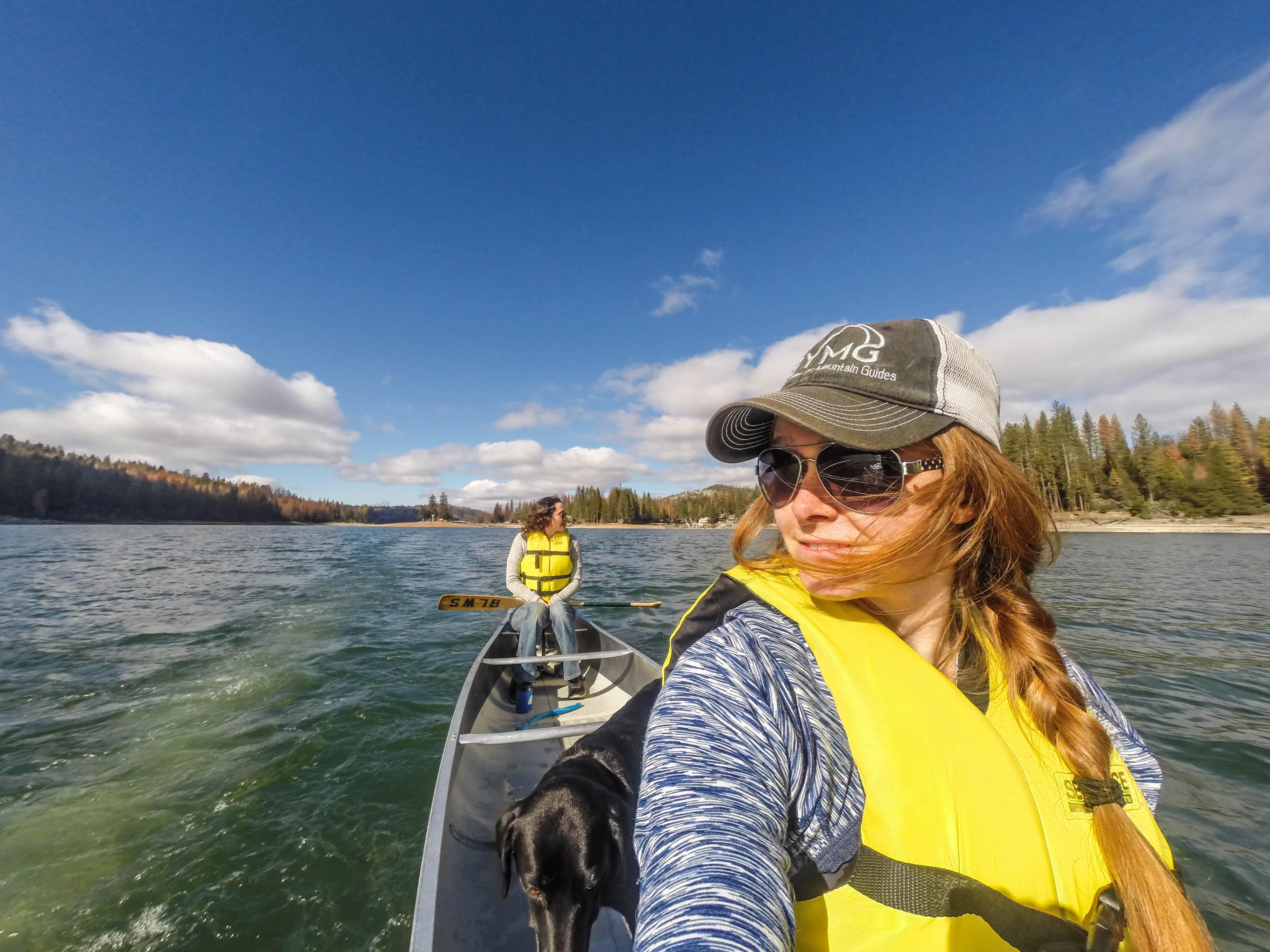 Canoeing around Bass Lake