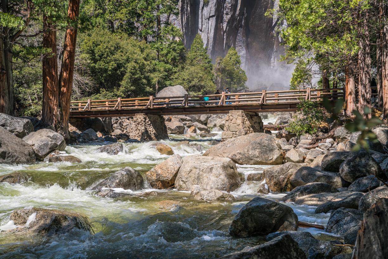 Bridge at the base of Bridalveil Fall