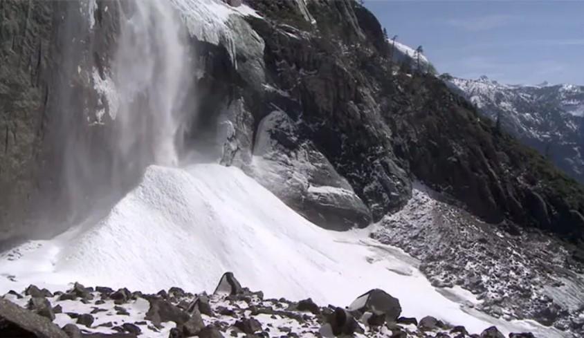 Snow Cone on Upper Yosemite Falls