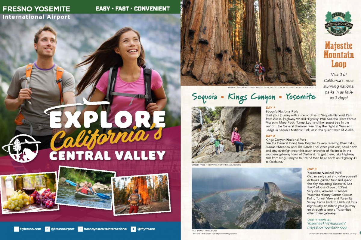 Majestic Mountain Loop spread in 2020 Visitors Guide