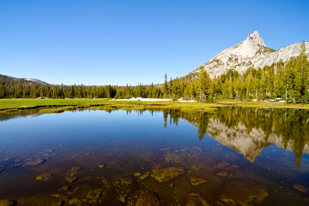 Yosemite's Cathedral Peak and Cathedral Lakes