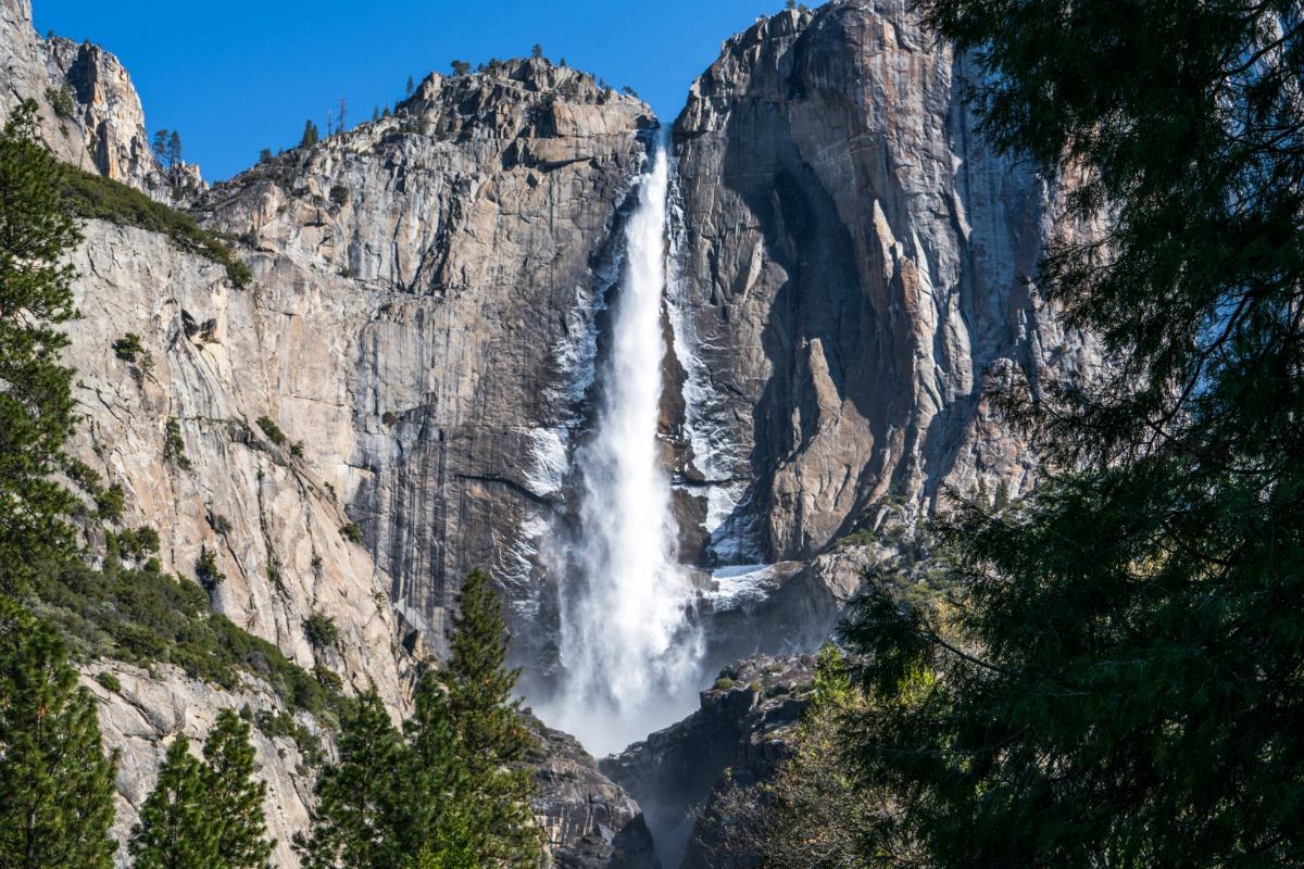 Upper Yosemite Falls in Winter