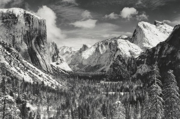 Yosemite's Tunnel View in Winter by Ansel Adams