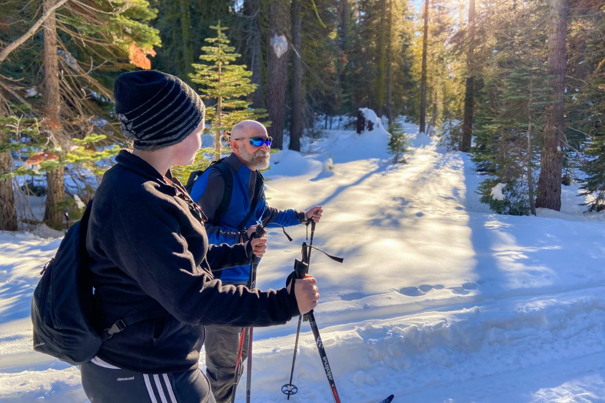 Cross Country Skiing on Glacier Point Road Yosemite National Park