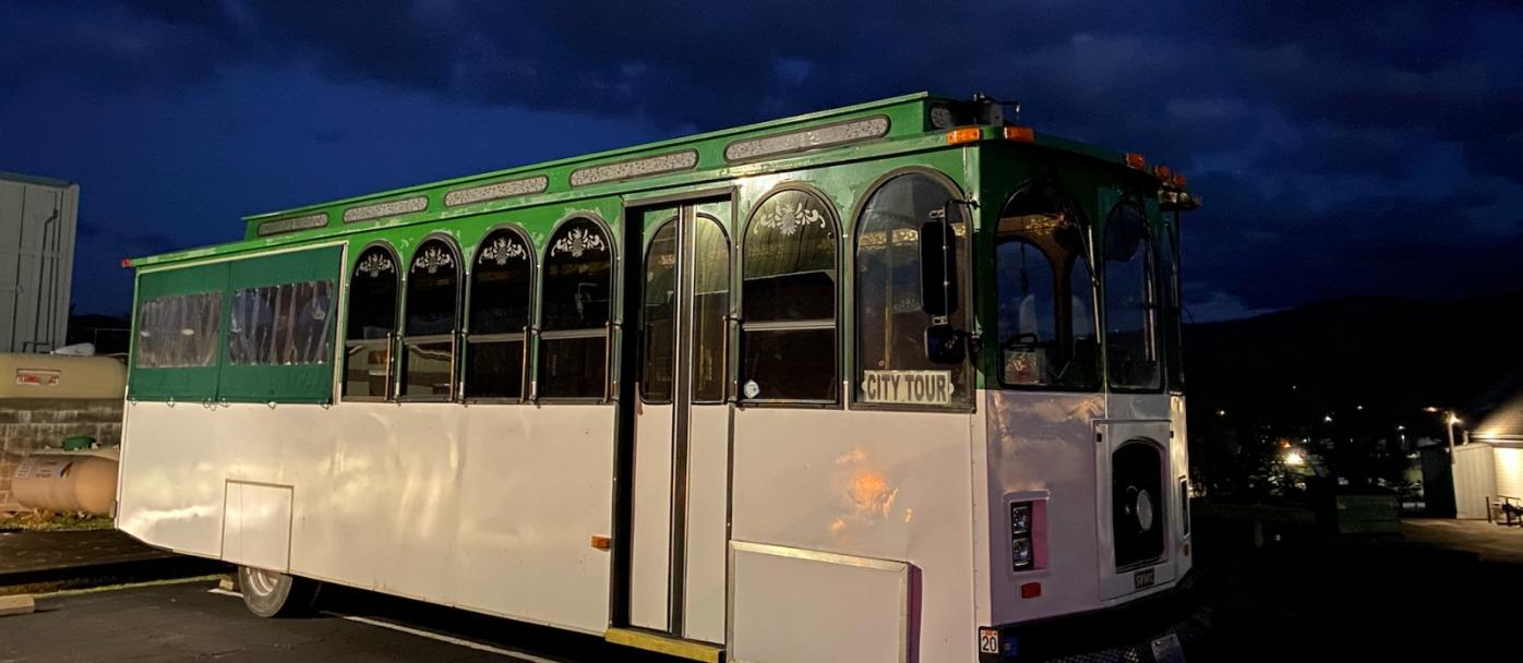 Oakhurst Trolley at Night