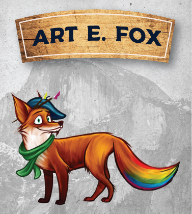 Art E Fox Card without boarders