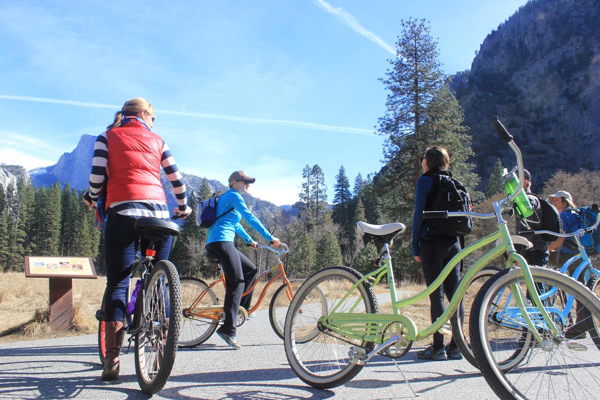 Biking around Yosemite Valley