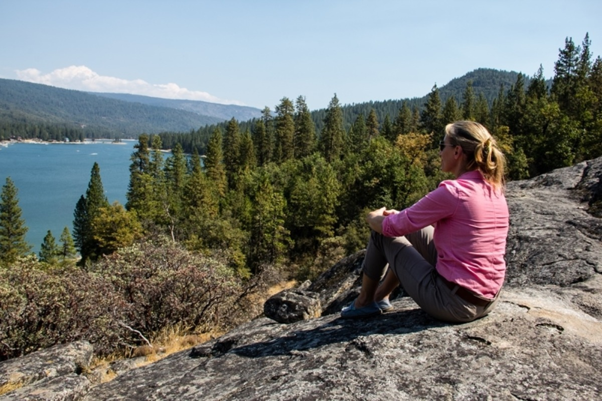 Way of the Mono Trail overlooking Bass Lake